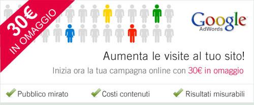 Google AdWords - Coupon Omaggio