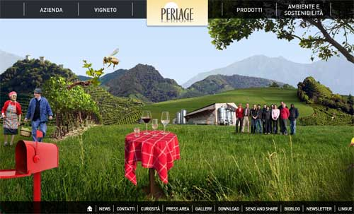 Screenshot sito web www.perlagewines.com
