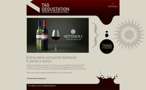 Advertising Settesoli: Tag Degustation