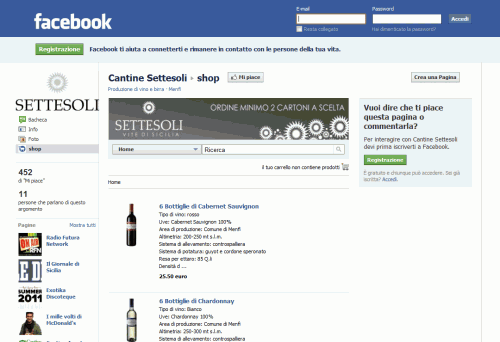 E-shop Cantine Settesoli - Facebook