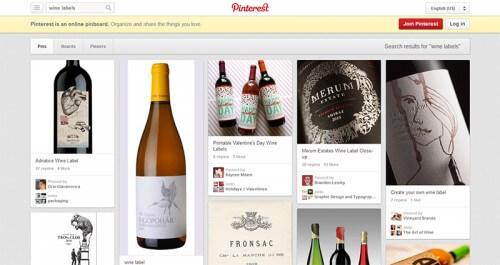 Etichette vino su Pinterest