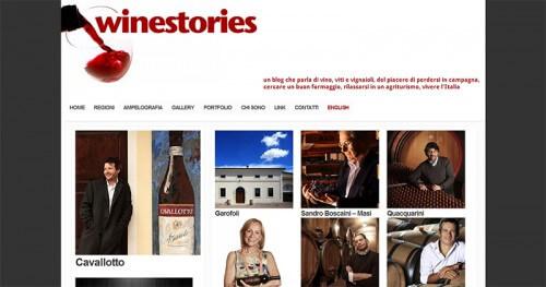 Winestories Galleria Sito Web