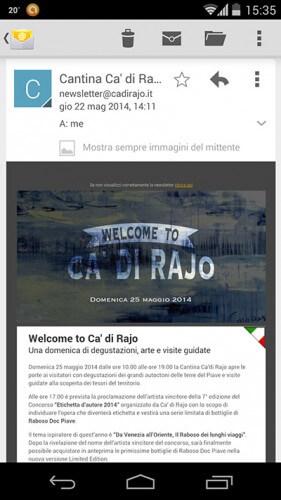 Newsletter Ca' di Rajo