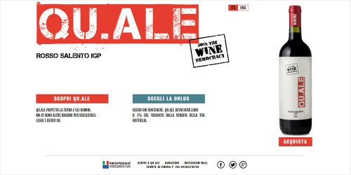Qu.ale - The Wine Democracy - sito web