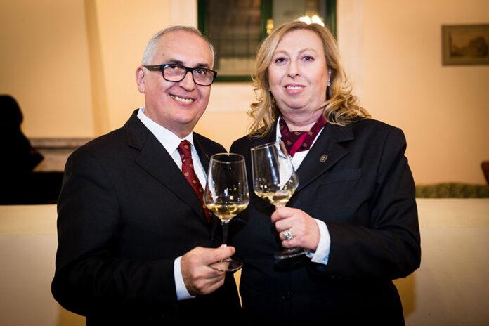 Il presidente Fisar Luigi Terzago con la Delegata di Roma Angela Maglione