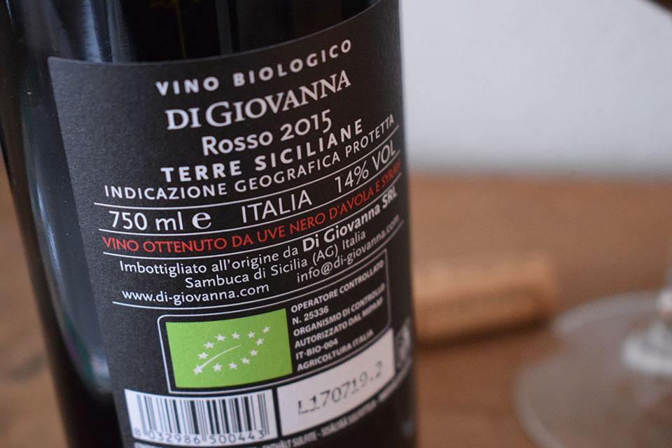 Helios Rosso, vino biologico