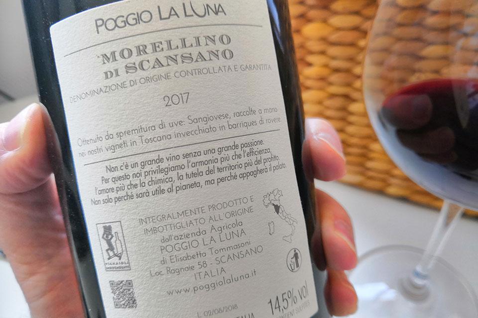 Etichetta Morellino di Scansano DOCG 2017 Poggio La Luna
