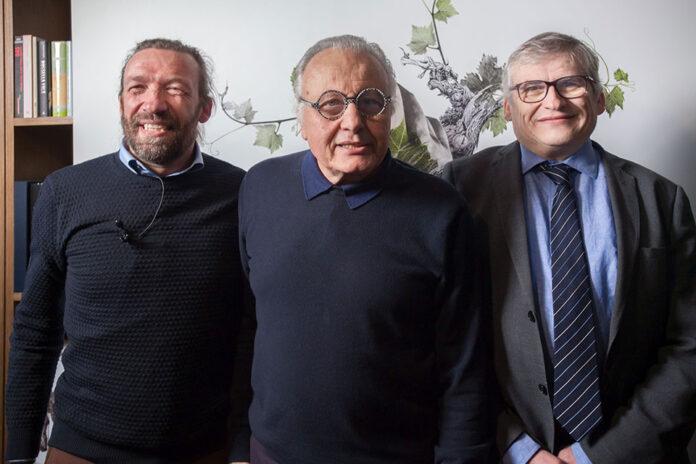 Giovanni Bigot, Angelo Gaja e Stefano Poni