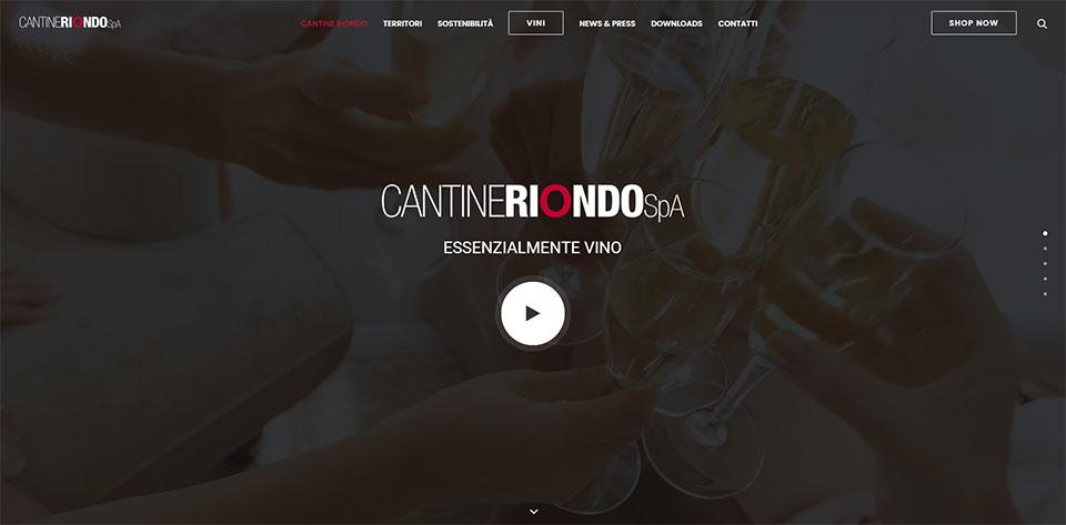 Cantine Riondo Homepage Sito Web
