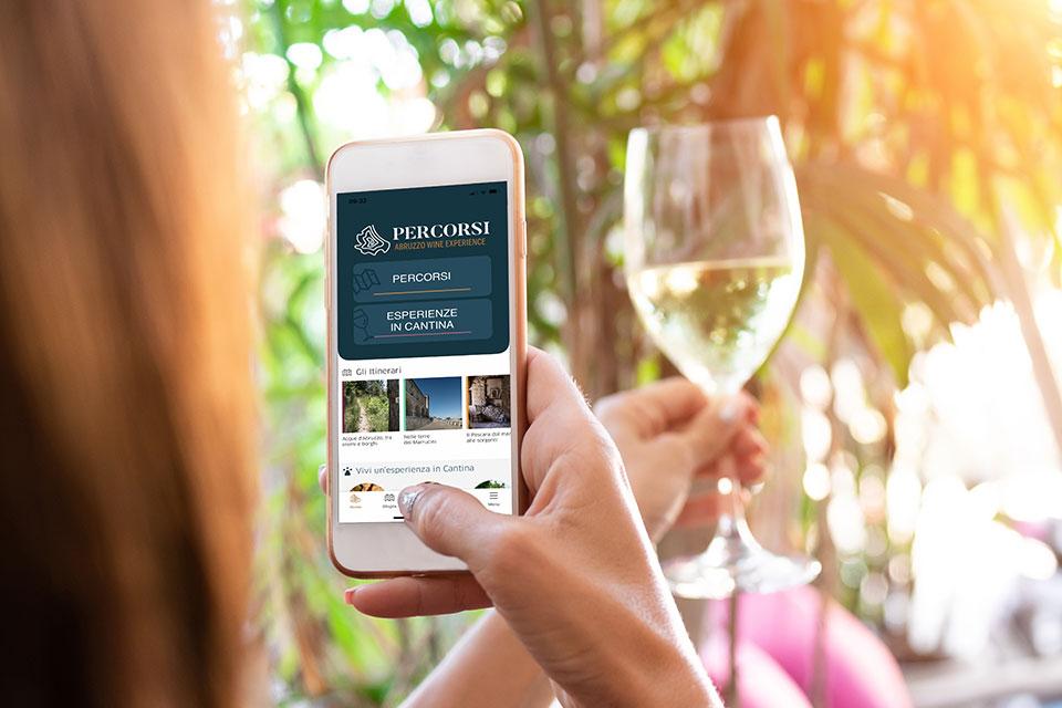 schermata app percorsi abruzzo wine experience